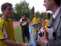 Předávání ocenění fotbal