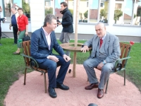 S čestným předsedou TOP09 Karlem Schwarzenbergem