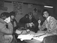 Revoluce - zasedání studentského stávkového výboru