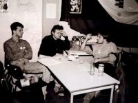 Revoluce - zasedání studentského stávkového výboru 2