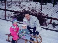 Zima s rodinou na horách